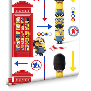 Minions Hello London Wallpaper, , large