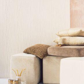 Spun Silk White Wallpaper, , large