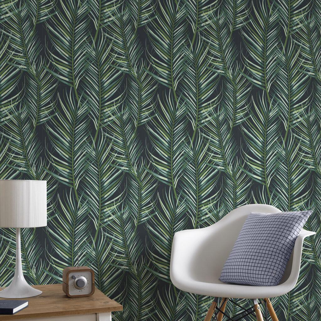 Palm Leaf Green Wallpaper - GrahamBrownUK