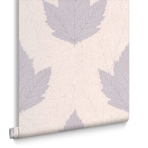 Maple Lavender and Stone Wallpaper, , large