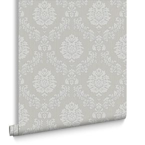 Costello Grey and White Wallpaper, , large