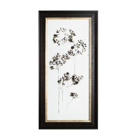 Botanical Seed Head Metallic Framed Art, , large