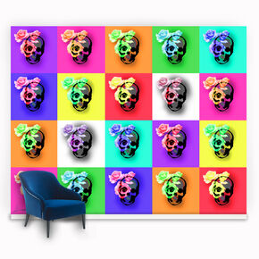 Fotobehang Skulls & Roses, , large