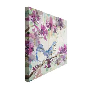 Stitched Spring Birds Printed Canvas, , large