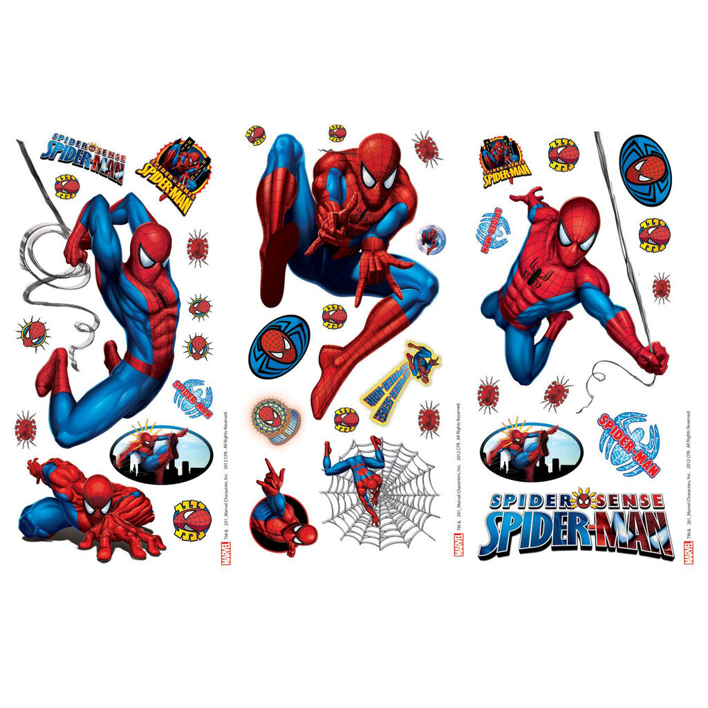 Spider man small wall sticker grahambrownrow amipublicfo Choice Image