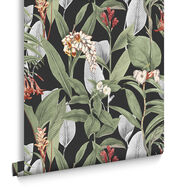 Botanical Black Behang, , large