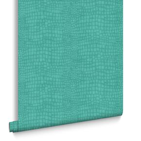 Crocodile Turquoise Behang, , large