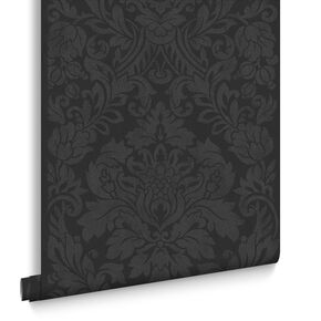 Gloriana Black Wallpaper, , large