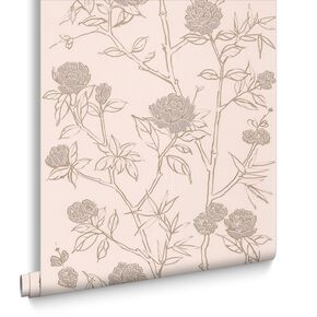 Hua Cream Wallpaper, , large