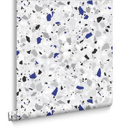 Terrazzo Blue Behang, , large