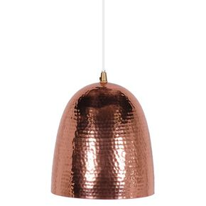 Copper Dome Hammered Pendant Light, , large