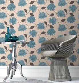 Romance Teal Wallpaper, , large