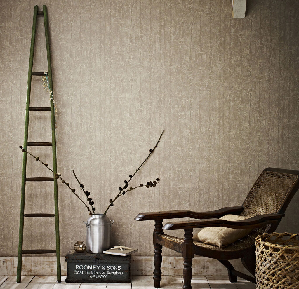 Driftwood taupe wallpaper graham brown for Where sells wallpaper