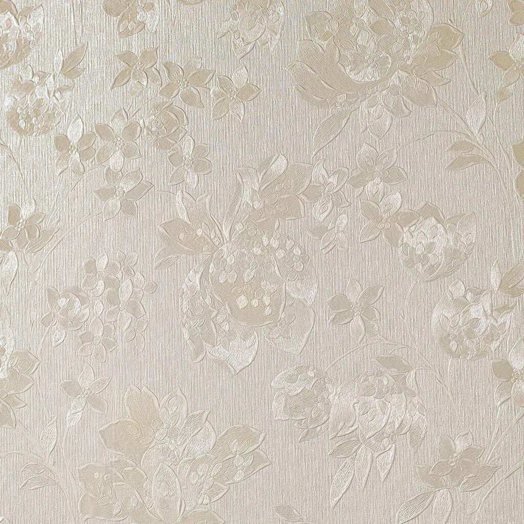 Floral Cream Shimmer Wallpaper Contemporary Floral Wallpaper