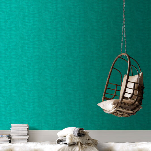 Crocodile turquoise wallpaper graham brown - Turquoise wallpaper for walls ...