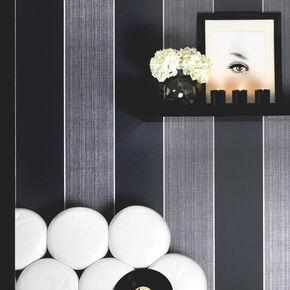 Bold Stripe Black und Charcoal, , large