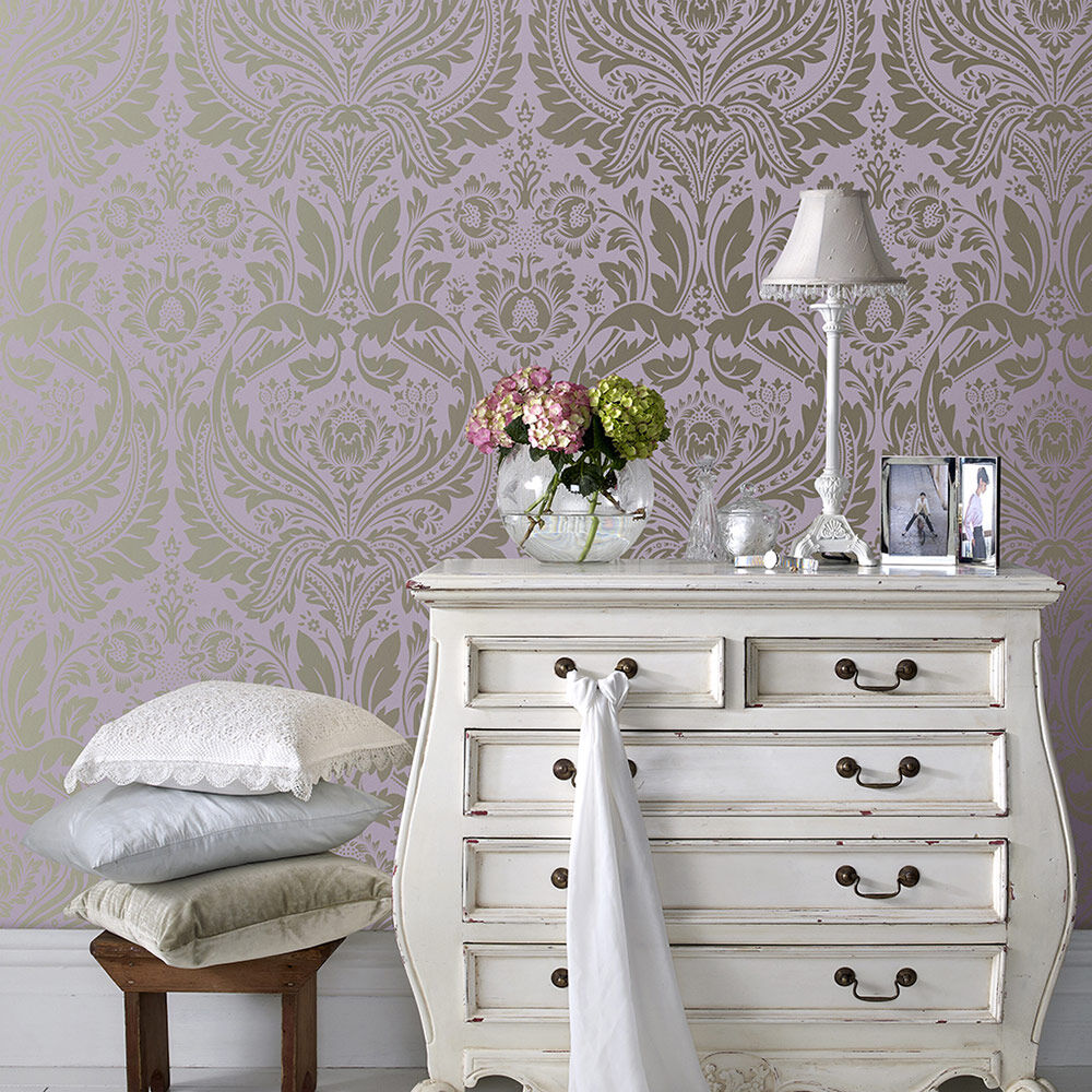 ... Large Desire Lavender Wallpaper, ...