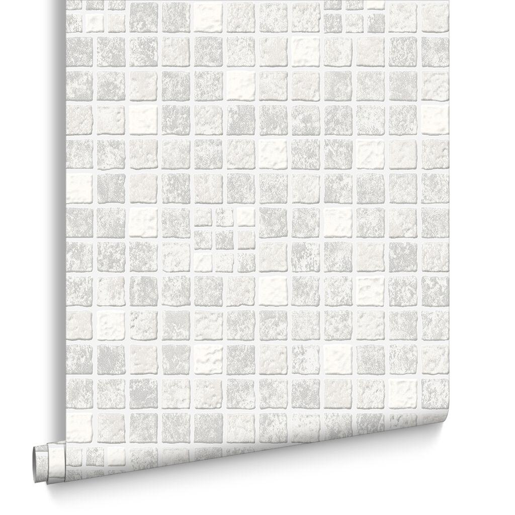 Earthen mid grey wallpaper grahambrownuk for Gray and white wallpaper bathroom