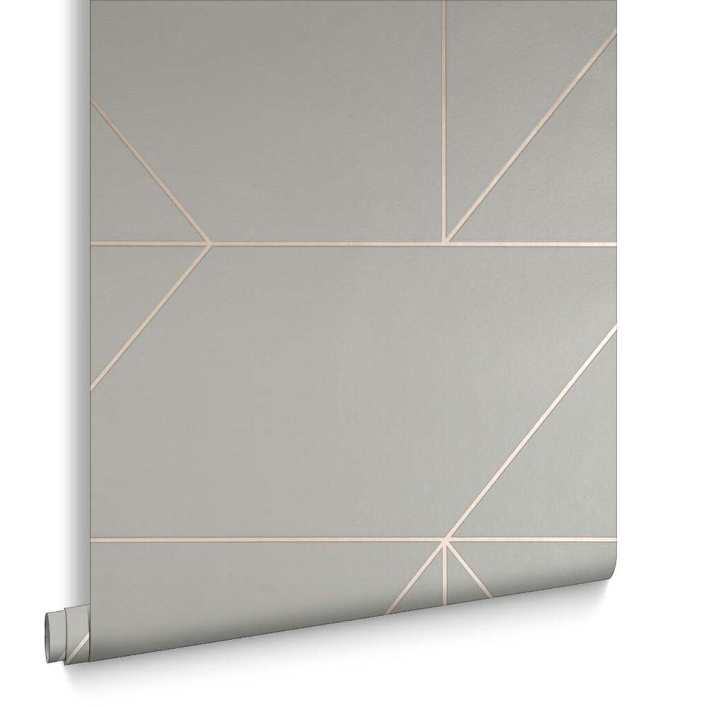 Buy marble rose gold silver and floral geo triangles rectangular - Geo Grey And Rose Gold Wallpaper