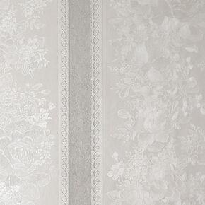 Floral Stripe Silver Mist Behang, , large