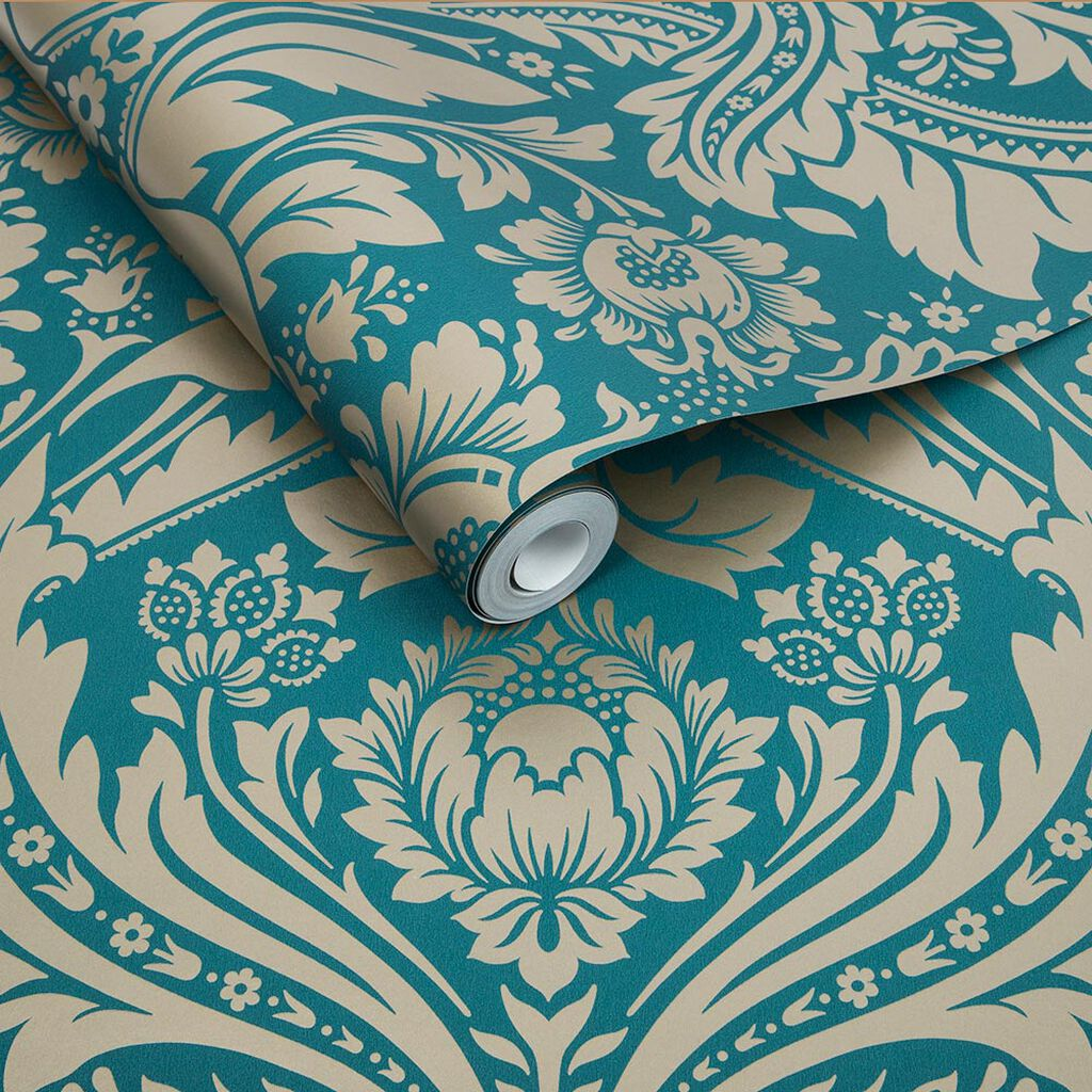 desire teal gold wallpaper grahambrownuk