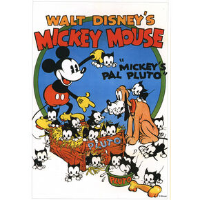 Mickey's Pal Pluto Printed Canvas, , large
