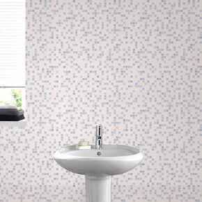 Checker Blue Wallpaper, , large
