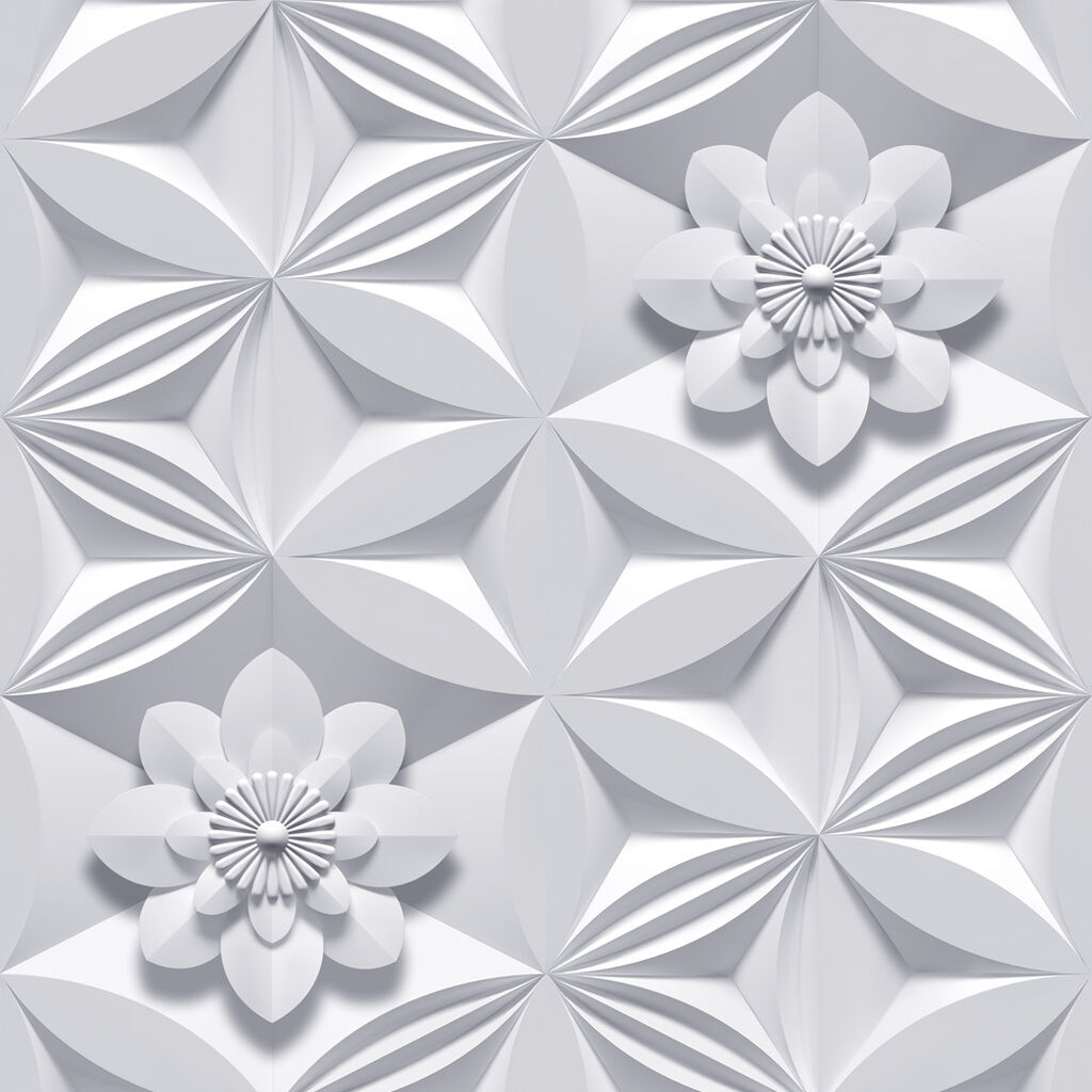 Wall flower grey wallpaper graham brown for Gray and white wallpaper designs
