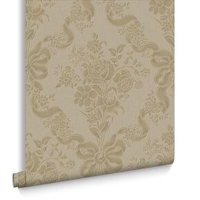 Glimmerous Taupe Behang, , large