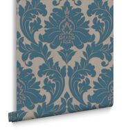 Majestic Teal Wallpaper, , large