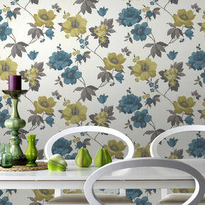 Eden Lime Wallpaper, , large