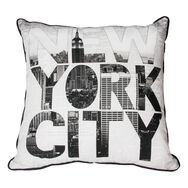 New York Type Pillow, , large