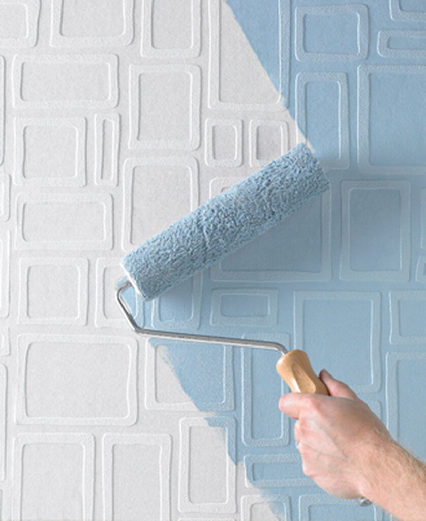 - Large Squares Wallpaper Mid-Century Style Wallpaper