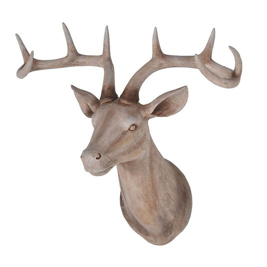 Large wood effect stags head grahambrownuk - Decorative stags head ...