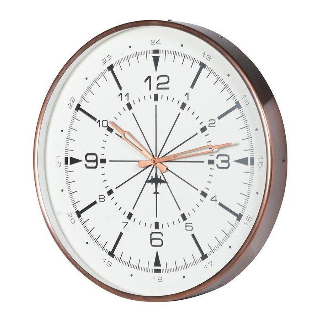 Wall clocks hanging wall clocks graham brown uk brushed copper aviation wall clock amipublicfo Choice Image