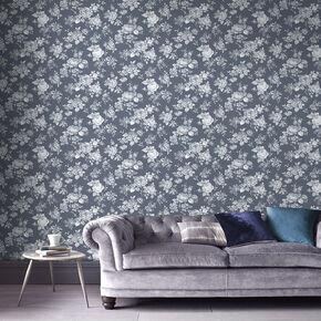Large Muse Bleu Wallpaper