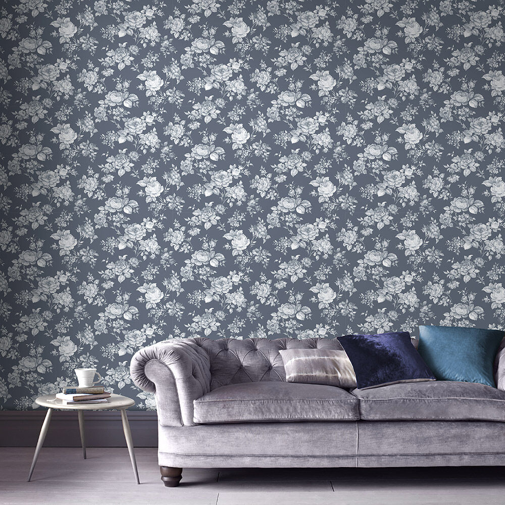 Captivating ... Large Muse Bleu Wallpaper, ...