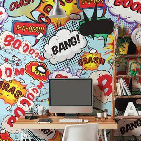 Comic Pop Wall Mural, , large