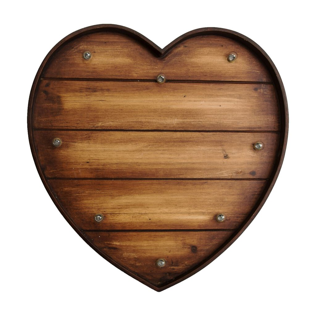 lit wood effect heart graham brown. Black Bedroom Furniture Sets. Home Design Ideas