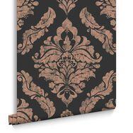 Damaris Black Wallpaper, , large