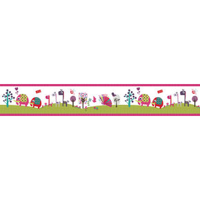 Lemon Ribbon Animal Sanctuary Medium Border Roll, , large