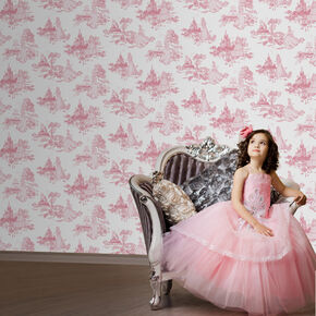 Princess Toile Pink, , large