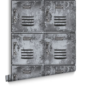 Locker Grey Wallpaper, , large
