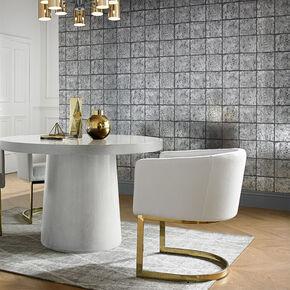 Oxidised Tile Blackened Behang, , large