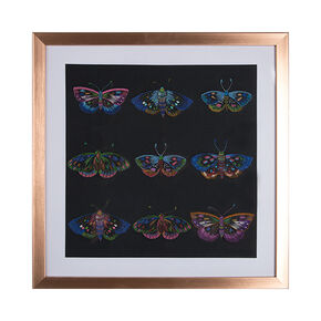 Beautiful Butterflies Stitched Framed Print, , large