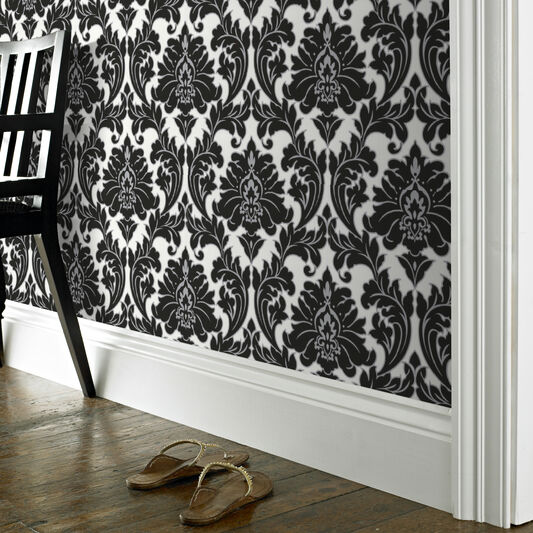 Majestic Black and White Wallpaper, , large