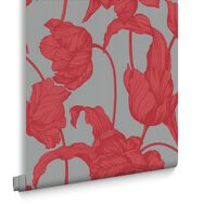 Harem Tulips Coral Wallpaper, , large
