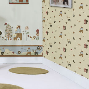 Graham & Brown Woodland Critters Wallpaper, , large