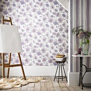 Flora Taupe Wallpaper, , large