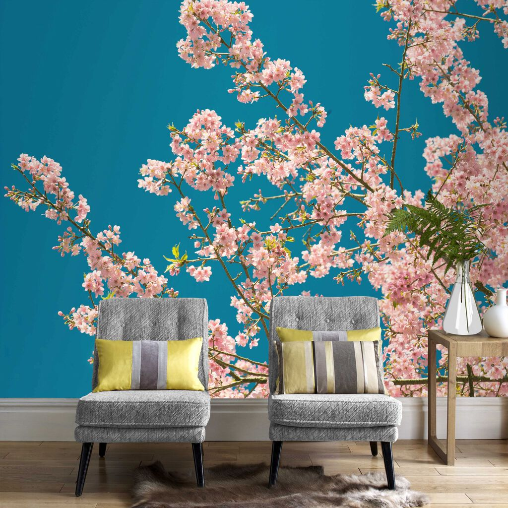 cherry blossom wall mural grahambrownuk similiar cherry blossom mural ideas keywords